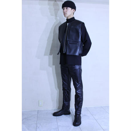 SYNTHETIC LEATHER PANEL VEST / A-20SS-LOV