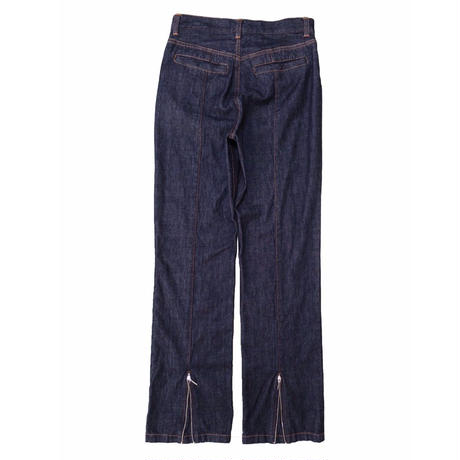 2 PANEL DENIM BOOT CUT PANTS  / INDIGO 10oz