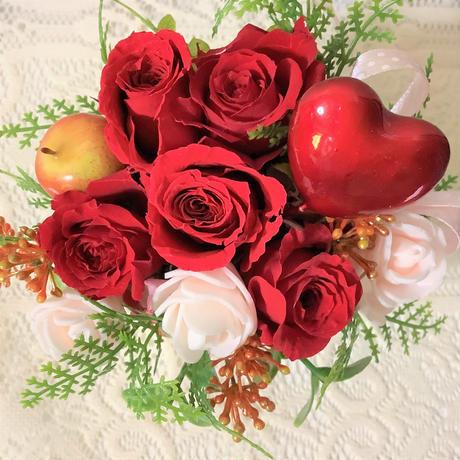 プリザーブドフラーバレンタイン赤いバラ