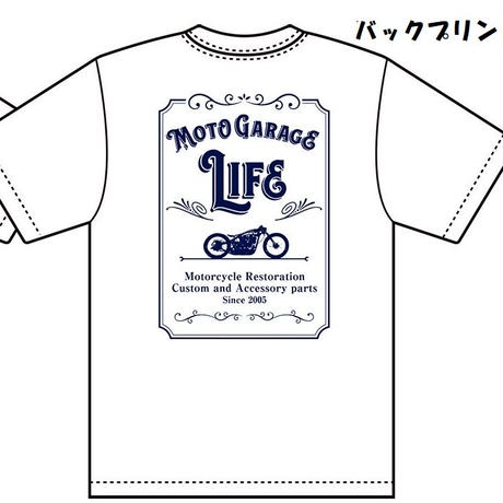 LIFEオリジナルTシャツC白(送料込みネコポス便)