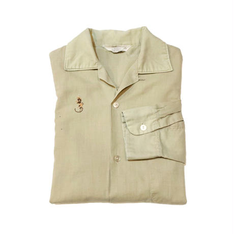 60'S TOWNCRAFT  Open collar shirtタウンクラフト