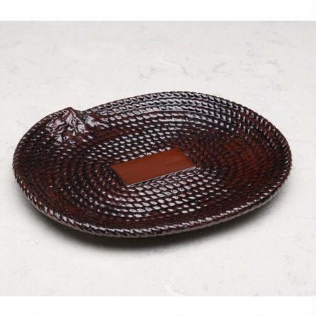 縄文小判皿 (小) (220×180)