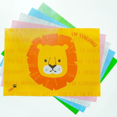 50枚入り!かわいい動物たちのZOOチョンマット 【ランチョンマット パーティ テーブルマット 紙 使い捨て 】