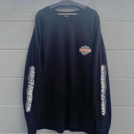 Harley-Davidson pocket long sleeve T-shirt/ハーレーポケットロンT