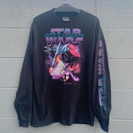 star wars print long sleeve T-shirt/スターウォーズプリントロンT