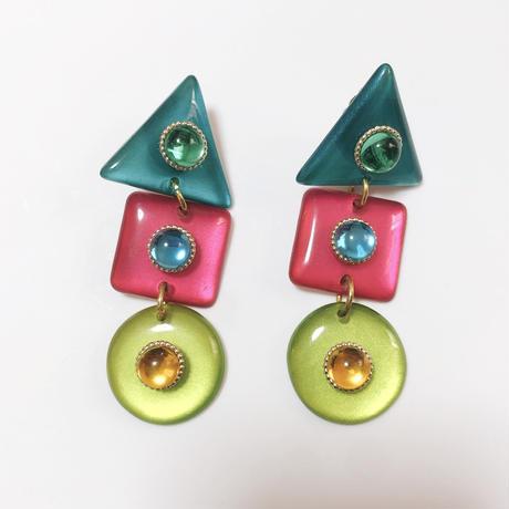 bijou colorful earring/ビジューカラフルイヤリング
