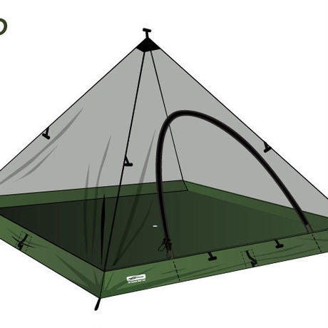 DD SuperLight - Pyramid - Mesh Tent *日本正規品* ピラミッドメッシュテント カヤ 【DDハンモック】