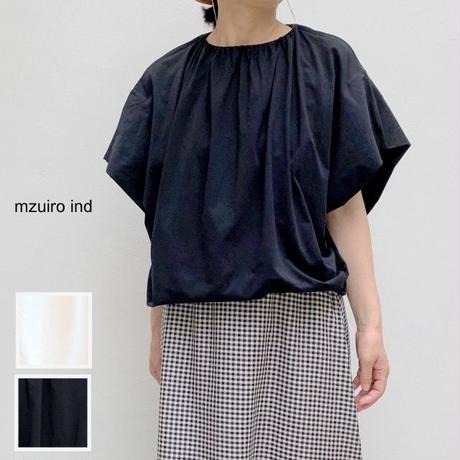 【レディス】mizuiro-ind(ミズイロ-インド)ギャザードネックラインサイドタックプルオーバー 2-218372