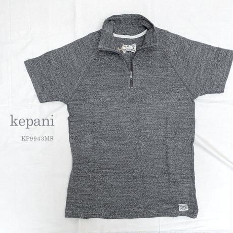 【メンズ】kepani[ケパニ] ラフィストレッチフライス ショートスリーブ ジップアップTシャツ KP9943MS
