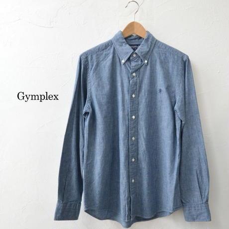 Gymphlex(ジムフレックス)MEN'Sシャンブレー ボタンダウンシャツ[J-0643 COD]