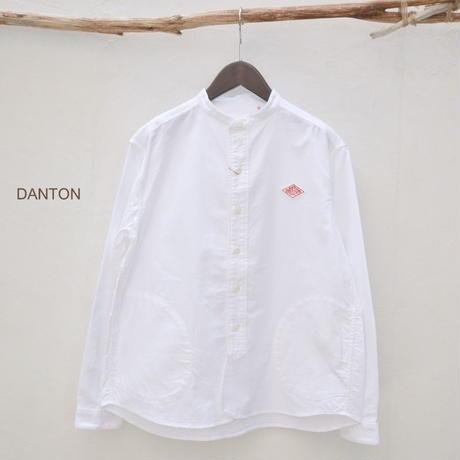 【レディス】【2018ss新作】DANTON(ダントン)長袖バンドカラーシャツ  [JD-3606YOX]