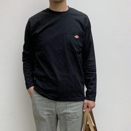 【メンズ】DANTON(ダントン)ポケット付 長袖Tシャツ 無地 [JD-9077]