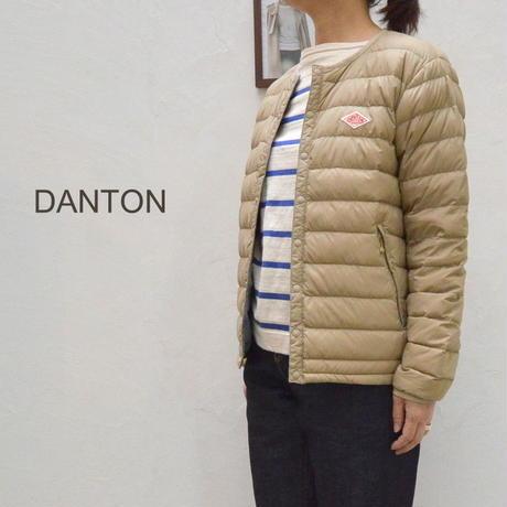 【レディス】薄く軽いインナーダウンジャケット  DANTON ダントン インナー ダウンジャケット JD-8748