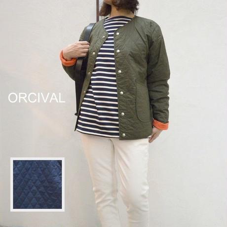 【レディス】薄く軽いキルトジャケット  Orcival(オーシバル)ノーカラーキルティングジャケット [RC-8833MTY]