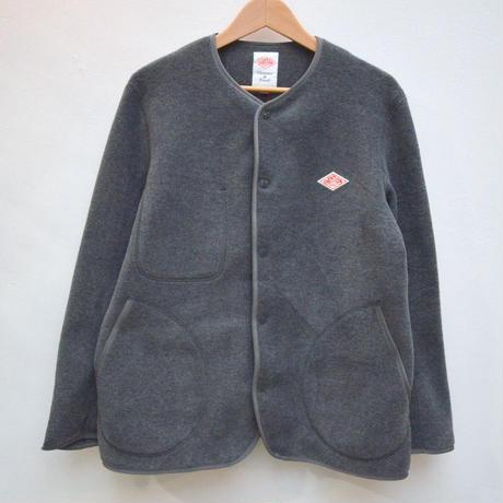 軽いフリースジャケット【メンズ】DANTON ダントン フリース ノーカラージャケット JD-8939