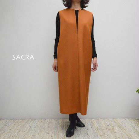 【レディス】SACRA(サクラ)深Vネックノースリーブワンピース 118607041