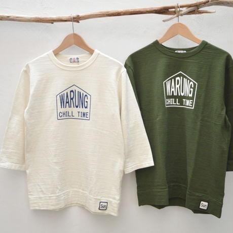 【メンズ】u.m.i kohola  スラブ生地 7分袖Tシャツ WARUNG [Y-0629B]