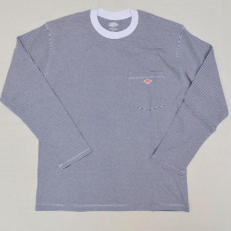 【メンズ】DANTON(ダントン)ポケット付 長袖Tシャツ ボーダー [JD-9077-MNS]