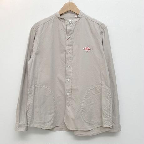 【メンズ】DANTON(ダントン)ポケット付 ビエラバンドカラーシャツ  長袖  無地 JD-3607VSS