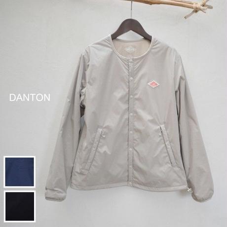 【レディス】【2019ss新作】DANTON(ダントン)ナイロンストレッチタフタ ノーカラーインシュレーションジャケット JD-8878SET-LDY