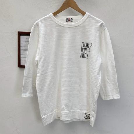 【メンズ】u.m.i sunrise ( ユーエムアイサンライズ) スラブ 7分袖Tシャツ PEAK Y-0753B