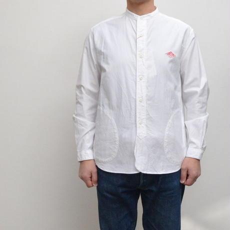 【メンズ】DANTON(ダントン)ポケット付 長袖バンドカラーシャツ  JD-3607YOX