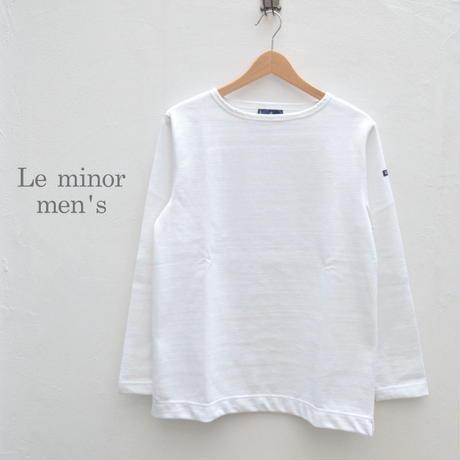 【メンズ】Le minor(ルミノア) ボートネック バスクシャツ 51629