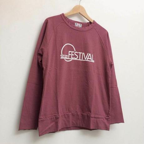【メンズ】u.m.i sunrise ( ユーエムアイサンライズ)22Gリサイクルコットン長袖Tシャツ 「FESTIVAL」Y-0694B