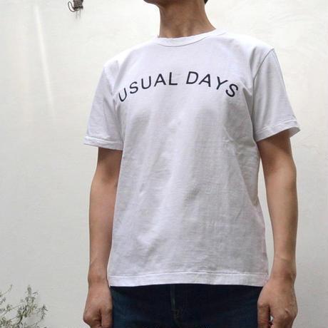 【メンズ】SEIRYU & Co(セイリュー) 19/-度詰め天竺 半袖 Tシャツ「USUAL DAYS」 SR1704MEN