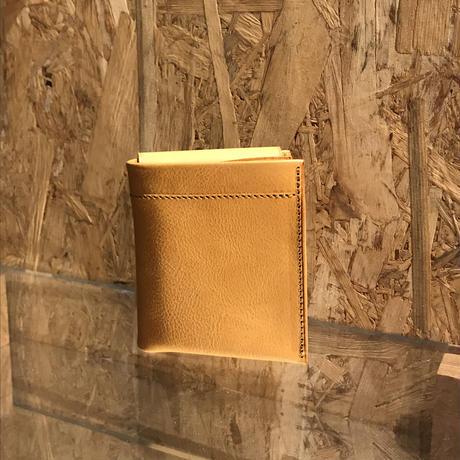 Dew-001 二つ折財布 ヌメ革ナチュラル