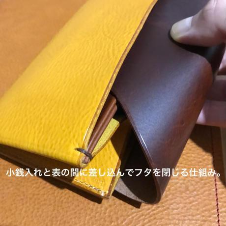 【Dew-003】長財布スリム版 アラスカ×黒