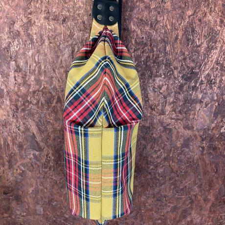帆布ボディバッグSサイズ チェック柄黄色