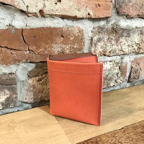 Dew-001 二つ折り財布 ピンク×茶