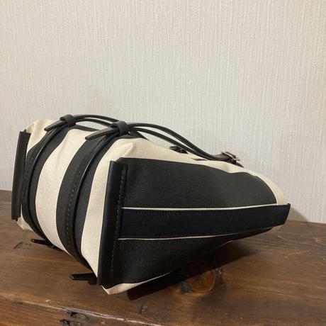 ストライプ 帆布トートバッグ Mサイズ