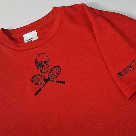TUTC8bitスカルゲームシャツ(MSスポーツ別注デザイン) レッド