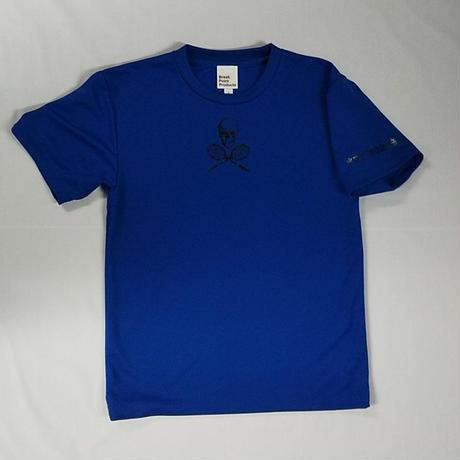TUTC8bitスカルゲームシャツ(MSスポーツ別注デザイン) ロイヤルブルー