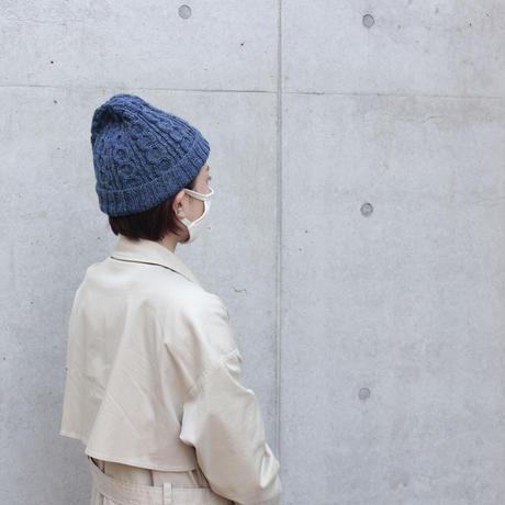 交差模様のニット帽キット