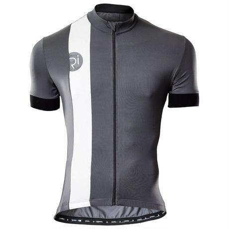 リベロ/Rivelo Mens Newlands Jersey サイクルジャージ 半袖 カラー:チャコールグレー/ホワイト