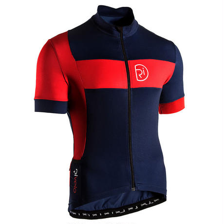 リベロ/Rivelo Mens Porlock Jersey サイクルジャージ 半袖 (Navy/Red) ネイビー/レッド [メンズ]【並行輸入品】