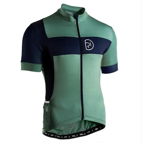 リベロ/Rivelo Mens Porlock Jersey サイクルジャージ 半袖 (Sage/Green) セージグリーン/ネイビー[メンズ]【並行輸入品】