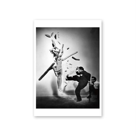 ポストカード/サルバドール・ダリ、フィリップ・ハルスマン《ポップコーン・ヌード》