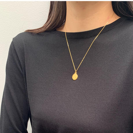lady coin pendant necklace
