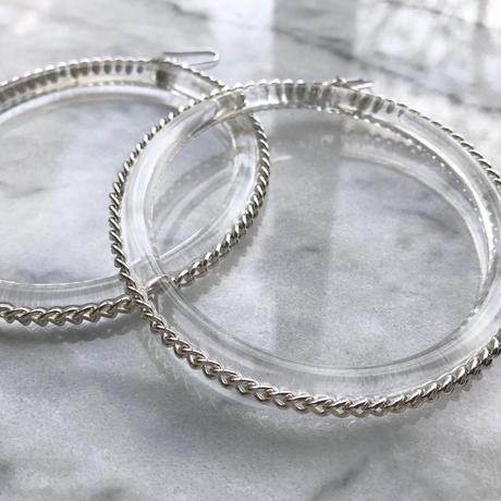 clear chain hoops