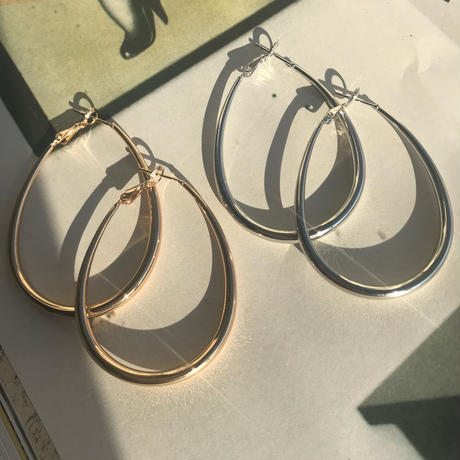 teardrop earrings -GOLD-