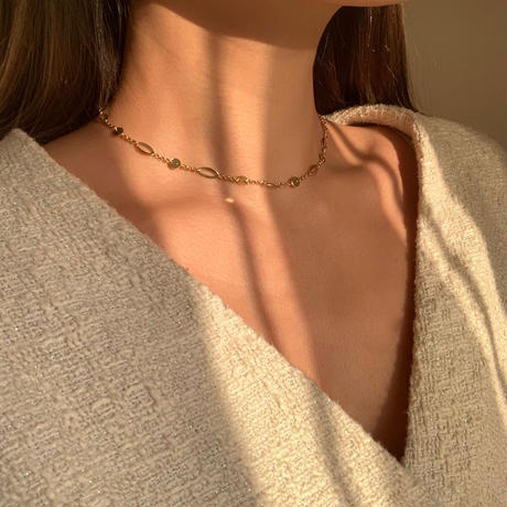 (再入荷)sparkle unique chain choker
