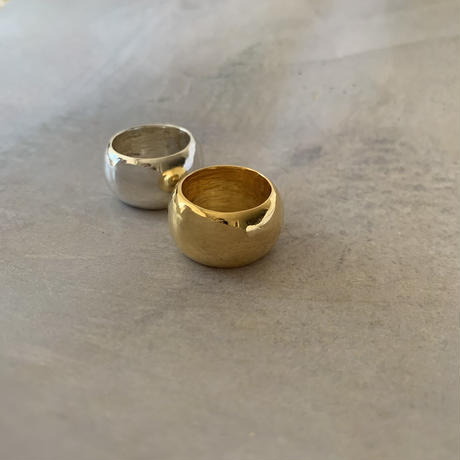 full moon ring  -silver-
