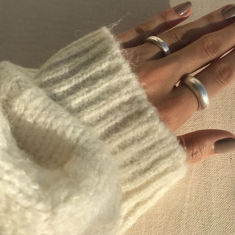 matte donut ring -silver-