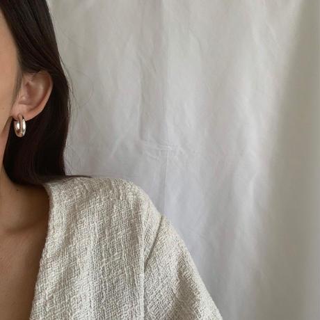 hoop pierce -silver-