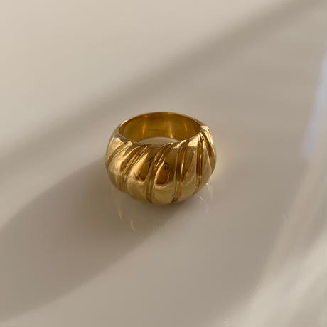 spiral shell ring ( gold/silver )