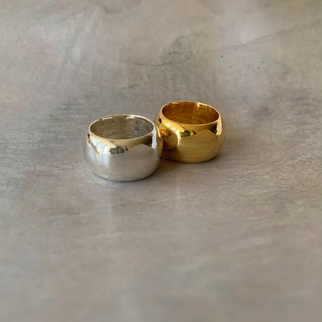 full moon ring -gold-